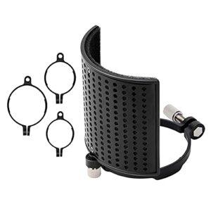 Microphone filtre bouclier filtre écran maille métallique trois couches Microphone pare-brise pour microphones