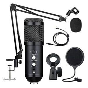 MILISTEN 1 Ensemble Enregistrement Microphone Plug And Play Microphone pour Ordinateur (Noir)