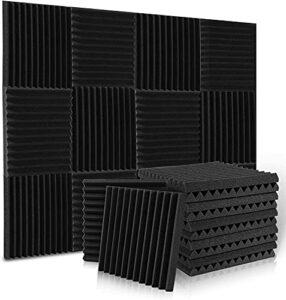 Mousse Acoustique Mousse Anti Bruit, Mousse Acoustic pour Podcasting, Studios d'enregistrement, Bureaux, Apprentissage à Domicile,Panneaux Insonorisants(30 X 30 X 2.5 cm) (24 Pack)