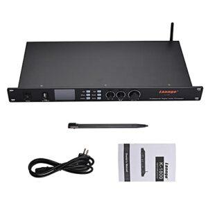 Muslady Processeur Audio numérique avec micro 3,5 mm/carte son USB/entrée Audio BT et sortie XLR / 3,5 mm pour karaoké domestique KTV