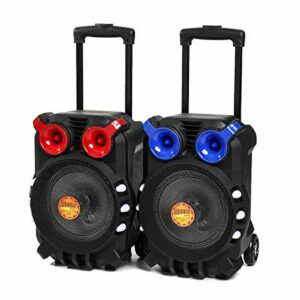 OverTop Chariot Bluetooth Audio Speaker Light Chant Écran TFT USB TF BT Karaoké KTV System