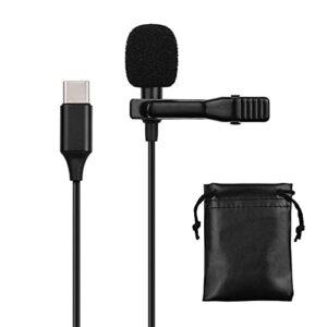 QiHaoHeji Lavalier Microphone Une Seule Tête pour Les Appareils D'interface De Type C Micro Revers (Couleur : Black, Size : One Size)