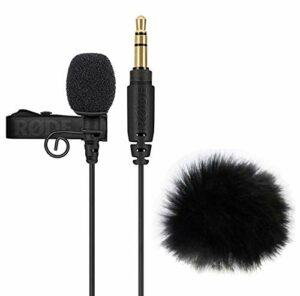 Rode Lavalier GO Microphone cravate + bonnettes anti-vent à fourrure Keepdrum WS05