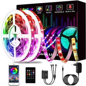 Ruban à LED 15M, L8star LED Ruban Intelligent Bande Lumineuse Led 5050 RGB SMD Multicolore Bande LED Lumineuse avec Télécommande changement (15m)