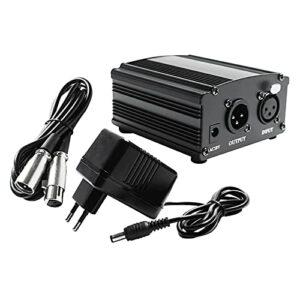 Sharplace Alimentation Fantôme 48V avec Câble de Charge pour équipement de Microphone