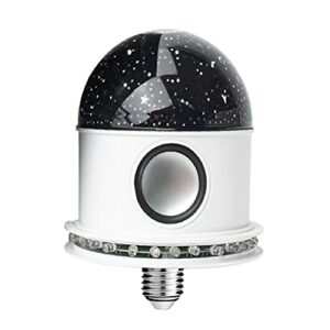sharprepublic Mini Bluetooth Changement de Couleur de Boule de Disco DJ Lumière E27 Portable Voix Activé Tournante Scène de Fête Lumières Lampe Magique Luminaire – Ciel étoilé