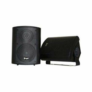 Skytec ODS50B Enceintes 2 voies 100 Watts – Noir, Boitier solide en ABS, Livré par paire avec étrier de fixation, Idéal pour diffusion d'annonces ou musique d'ambiance