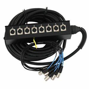 Soundsation – Stage box professionnel 8 entrées avec câble de 15 mètres