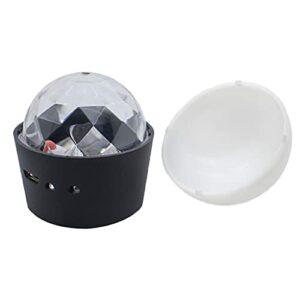 SunniMix Mini Disco Balle, USB de Charge Magnétique Stroboscopique, 3 Couleur Changement de Contrôle Du Son Mini Light Party, pour les – Sound Control