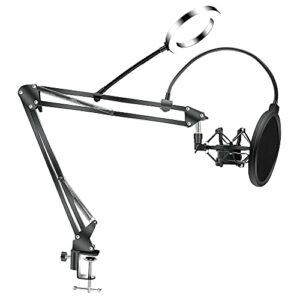 Support Bras Ciseaux Pour Microphone Support Bm800 Support Microphone Pour Trépied F2 Avec Un Support Porte-à-faux Araignée Support Choc Universel , Support Microphone (Color : 16cmLightSpider)