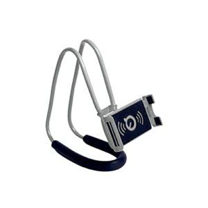 Support paresseux pour téléphone portable à col de Stand de téléphone mobile paresseux flexible de 360 degrés Tableau de téléphone suspendu au cou de paresseux Tour gratuit (Color : Grey)