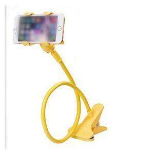 Support paresseux pour téléphone portable à col de Titulaire de téléphone de bureau universel flexible bras long-bras paresseux titulaire de la mezzanine lit Tour gratuit (Color : Yellow)