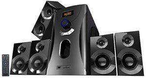 Système audio home cinema Surround 5.1 avec radio / MP3 – Noir