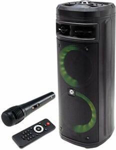 Système de sonorisation 206 TWS 300 W USB, Bluetooth, batterie, AUX-IN, microphone, éclairage LED et télécommande