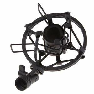 T TOOYFUL Clip de Montage Antichoc de Microphone Support de Support de Micro Anti-vibration pour Micro de 45 à 50 Mm – Noir