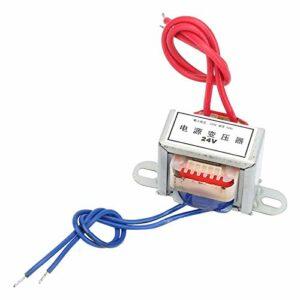 Transformateur de puissance d'isolation basse fréquence AC 12V/24V tension de sortie 2W entrée 220V 50Hz transformateur de puissance unique(24V)
