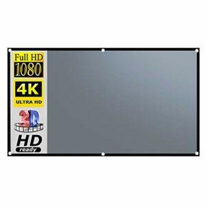TWDYC 16: 9 Anti-Rideau Lumineux en métal 100/120/133 Pouces écran de Projection Portable 3D HD de Bureau extérieur à la Maison (Size : 40 inch)