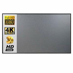 TWDYC Écran de projecteur 16:10, 100 Écran de Projection de Tissu de Tissu réfléchissant de 120 Pouces pour YG300 DLP LED Video Beamer (Size : 100 inch)