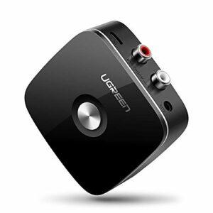UGREEN Récepteur Bluetooth Adaptateur Audio Bluetooth 4.1 sans Fil EDR Technologie avec 3.5mm et 2RCA Audio Jack