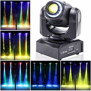 UKing 50W Lumière de Scène Mobile,Lyre LED avec 8 Motifs 8 Couleurs, Gobo Projecteur,10/12 Canaux DMX,Moving Head pour Bar, Club