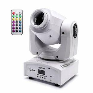 UKing 50W Lyre LED DMX 512 Tête Mobile avec Télécommande Lumière Scène Matériel Sono Éclairage à Disco 9/11 Canaux pour DJ Lumiere Soiree Fête Bar Mariage