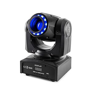 U`King Moving Head Light 60 W LED Projecteur de scène Projecteur de DMX512 14/16 canaux Activated Sound pour DJ Disco Éclairage de scène
