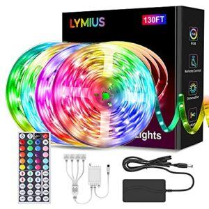 【Ultra-Longue】Ruban LED 40M, LYMIUS Bande LED RGB avec Télécommande, 20 Couleurs et 6 Modes de Scène pour La chambre, La télévision, La fête, Les vacances, La cuisine