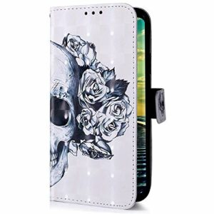 Uposao Compatible avec Samsung Galaxy A51 Samsung Galaxy A20S Tête de mort
