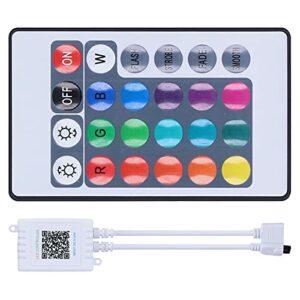 Vbestlife1 Contrôleur de LED Bluetooth, Contrôleur de Lumières RVB de Contrôle APP avec Télécommande, Affichage du Logiciel, Effets D'animation, Dégradés de Couleurs, pour Mariage, Chambre ou Fête