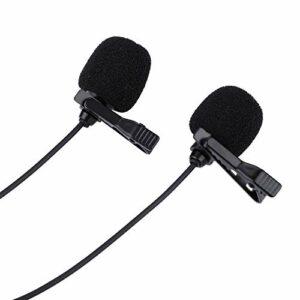 Weikeya Clip Microphone, Studio Durable Enregistrement Microphone Réduction de Bruit Faible avec Une réduction de Bruit élevée ABS pour Smartphone (Noir)