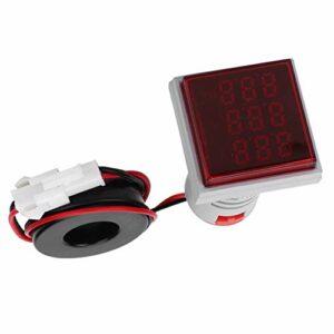 Weikeya Compteur électrique carré 0~100A en plastique 0~50℃ 60~500V (blanc)