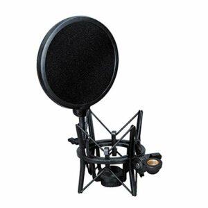 YO-HAPPY Support Antichoc pour Microphone avec Grand Ensemble de Microphones Double Couche Anti-éruption
