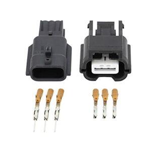 Yuquanxin Connecteur De Fil Électrique Mâle Et Femelle Imperméable À 3 Broches DJ7031K-0.6-11/21 Durable (Color : 10 Sets)