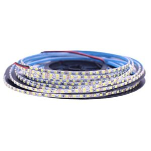 ZZSSC Bandes LED lumières PCB Hight Lumineux 5M 2520 SMD 168 LED/m 840 LED / 5M Neutre Blanc Blanc Chaud Blanc Flexible LED Strip 12V Non imperméable(IP20 Not Waterproof,Warm White)