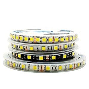 ZZSSC Lampe à Bande LED 5M 5050 CCCT Luces 300 / 600LÉS TEMPÉRATURE DE Couleur TEMPÉRATURE Réglable Blanc/Noir PCB DC12V / 24V IP30 / IP65(24V 300LED IP65)