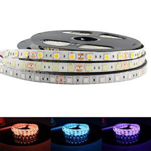 ZZSSC Lumière de Bande LED 5V 12V 24V RGB Étanche Etanche 5050 5M RGB Flexible LED Strip Light, 5 12 24 V Ruban à LED Lampe à Bande LED TV Ruban(IP65 Waterproof,Red-24V LED Strip)