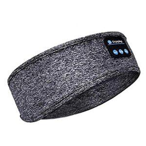 Bluetooth sans fil Bandeau sport sommeil Casque serre-tête pour le jogging marche Yoga Dormant gris de haute qualité de lecture