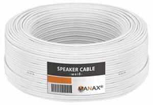 Câble de haut-parleur MANAX® 2 x 2,50 mm² blanc 30,0 m