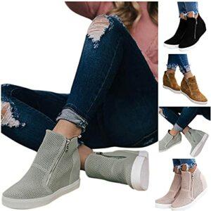 Dasongff Baskets basses en toile, chaussures plates, chaussures décontractées, chaussures d'été pour femme, chaussures à lacets plates, légères et respirantes.