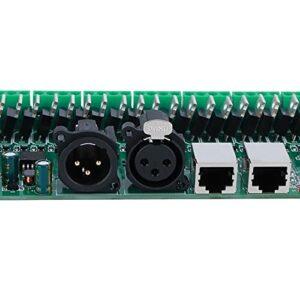 Décodeur de tension constante, décodeur DMX en aluminium DC 5-24V 256 niveaux de contrôle pour bande lumineuse LED pour scène de barre