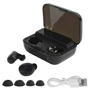 Écouteurs Bluetooth sans Fil, écouteurs Stéréo TWS avec étui de Chargement, écouteurs étanches à Contrôle Tactile Antibruit(Noir)
