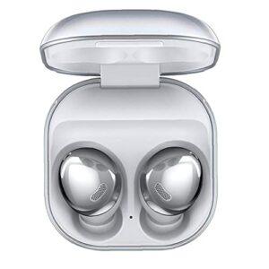 Écouteurs sans fil, Buds Pro Bruit Annulation des oreillettes intra-auriculaires avec boîte à chargement Bouclier d'argent Bruit environnementaux