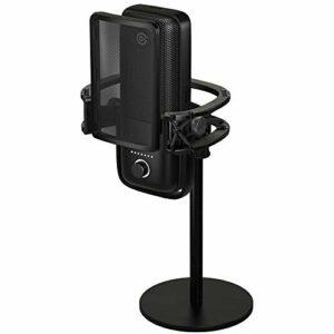 Elgato Wave Micro USB à condensateur + Pop Filter, Filtre d'atténuation des plosives pour l'élimination + Shock Mount, Isolation maximale + Extension Rods, 2 tiges en acier