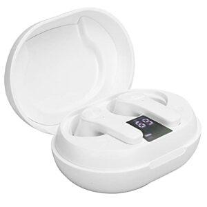 fasient1 Écouteurs sans Fil Bluetooth, D01-ANC Réduction Active du Bruit Bluetooth Contrôle Tactile avec étui de Charge 350mAh pour la Musique de Sport