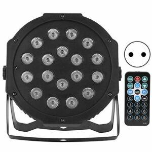 Lumières de scène RVB, à économie d'énergie équipées de deux supports, lumière de scène à LED avec 18 LED haute luminosité 9 effets d'éclairage Lumière de fête LED durable, pour bar(Transl)