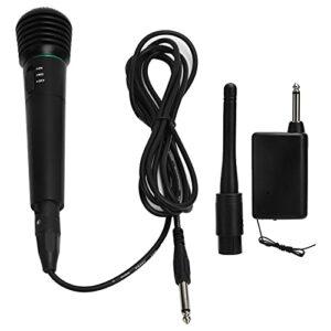 Microphone à Main, 2 en 1 Microphone Multifonctionnel Filaire et sans Fil Large Application Son de Haute Qualité Durable Conception Unique Microphone à Main pour Chanter