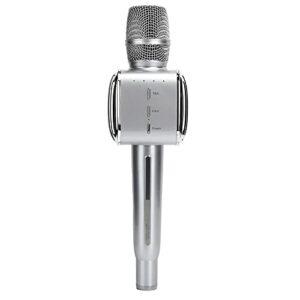 Microphone en Direct, Microphone sans Fil Bluetooth, Micro en Direct Multifonctionnel Anti-interférence pour la Vidéo KTV Domestique, avec Capteurs de Son Hautement Sensibles