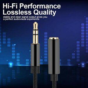 minifinker Câble Audio d'extension de câble Audio Durable, pour Les connexions de périphériques Audio, pour Les Jeux(3 Meters)