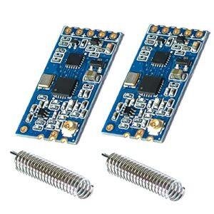 Module port série sans fil, 433Mhz HC-12 SI4463 SI4438 1000M Distance Transmission 2PCS, Composants