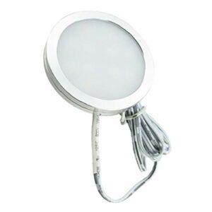 perfk L'armoire Circulaire en Aluminium de C.C 12V LED s'allume sous Les de Rondelle de Cabinet – Lumière Blanche